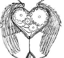 Steampunk Clockwork Heart by NicoleJadeArt