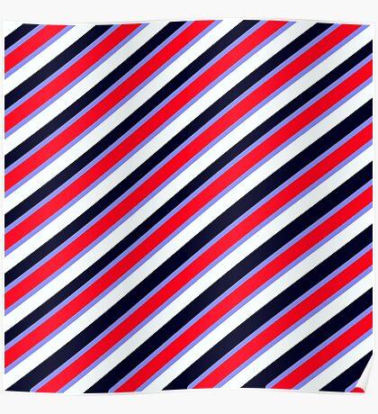 Team Colors 3...Navy,lightblue,red white Poster