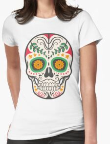 skull green Womens Fitted T-Shirt