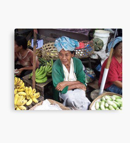 Market seller Canvas Print