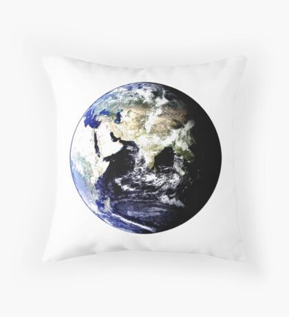 Earth Globe Throw Pillow