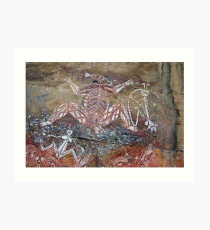 Aboriginal Rock Art Art Print