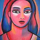 Head of Girl [cat's eyes] by Bill Proctor