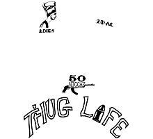 2pac's Tattoos Photographic Print