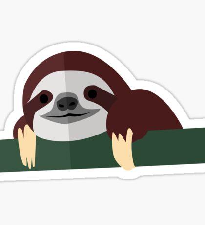 Chillin' Sloth   Vector Art Sticker