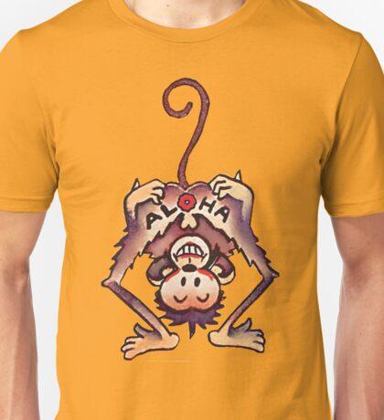 cartoon design of a cheeky monkey Unisex T-Shirt