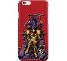 Metroid - Not Another Mario Game (halftones) iPhone Case/Skin