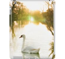Swan on the Thames  iPad Case/Skin