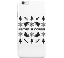 Winter Is Coming | Game of Thrones Ugly Christmas Sweater iPhone Case/Skin