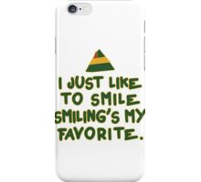 I Just Like To Smile, Smiling's My Favorite | Buddy The Elf Christmas Quote iPhone Case/Skin