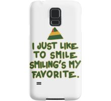 I Just Like To Smile, Smiling's My Favorite | Buddy The Elf Christmas Quote Samsung Galaxy Case/Skin