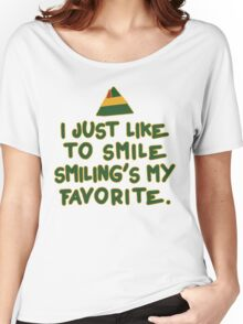 I Just Like To Smile, Smiling's My Favorite | Buddy The Elf Christmas Quote Women's Relaxed Fit T-Shirt
