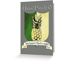 House Psych-O Crest Greeting Card