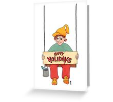 holi. swing Greeting Card