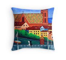 Remembering Basel Throw Pillow