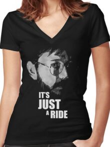 """Bill Hicks - """"It's Just a Ride"""" Women's Fitted V-Neck T-Shirt"""
