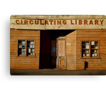 Clunes Circulating Library Canvas Print