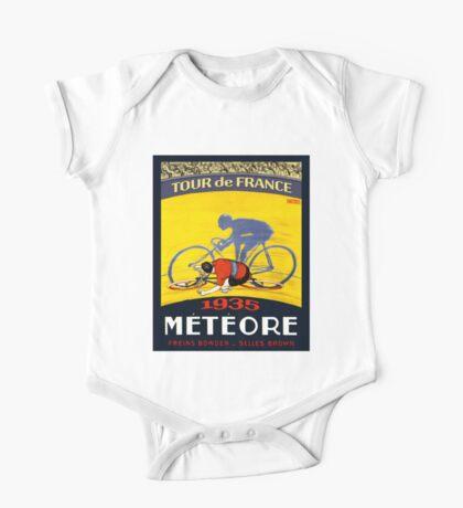 TOUR DE FRANCE; Vintage Meteore Advertising Print One Piece - Short Sleeve