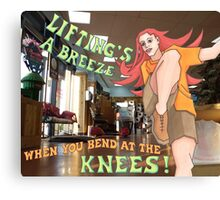 bending knees Canvas Print