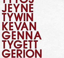 House Lannister 2 Typography series II by P3RF3KT