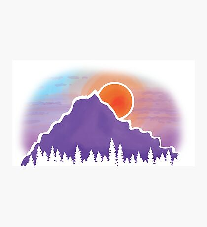 Mountain Silhouette Photographic Print