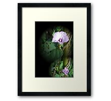 Big And Small Purple In The World Of Greens Framed Print