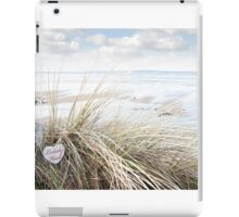 lonely wooden heart on beach dunes iPad Case/Skin