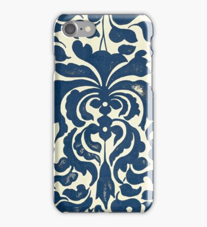 Asian Blue And White Vintage Graphic Floral Pattern Shirts And Gifts iPhone Case/Skin