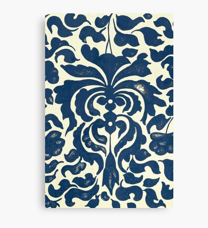Asian Blue And White Vintage Graphic Floral Pattern Shirts And Gifts Canvas Print