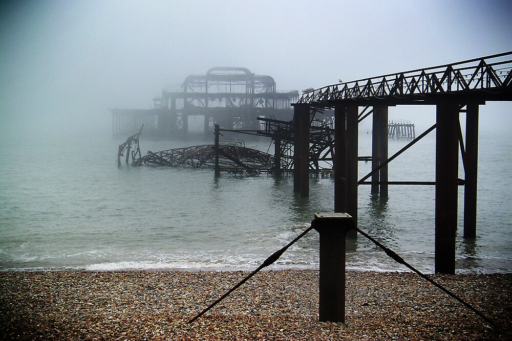 Pier in the Fog by j0hnw00ds