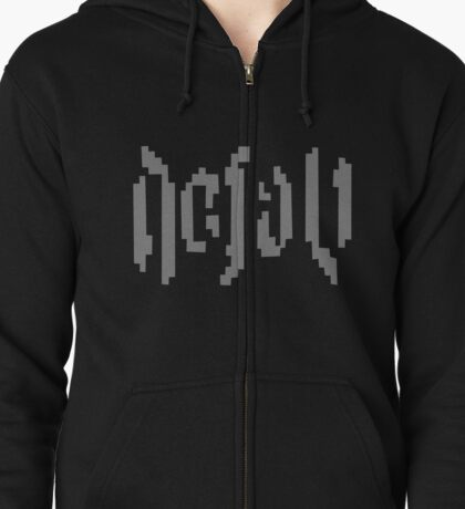 Watch Dogs Defalt Logo Zipped Hoodie