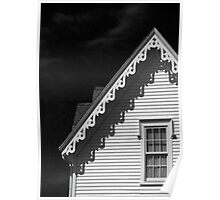 Gingerbread Shadows in Black and White Poster