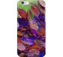 BLOOMING BEAUTIFUL 2 Bold Colorful Orange Purple Green Textural Abstract Acrylic Painting Floral Impasto Garden Flowers iPhone Case/Skin