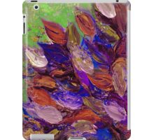 BLOOMING BEAUTIFUL 2 Bold Colorful Orange Purple Green Textural Abstract Acrylic Painting Floral Impasto Garden Flowers iPad Case/Skin
