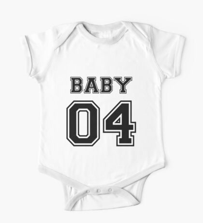 Numbered FAMILY : BABY 04 BLACK One Piece - Short Sleeve