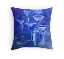 Blue Martini's Throw Pillow