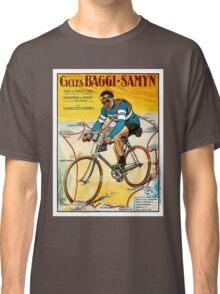 TOUR DE FRANCE; Vintage Baggi-Samyn Bike Print Classic T-Shirt