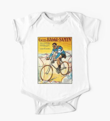 TOUR DE FRANCE; Vintage Baggi-Samyn Bike Print One Piece - Short Sleeve