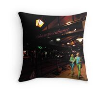 welcome to the caberet Throw Pillow