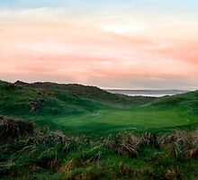 lush green Ballybunion links golf course by morrbyte