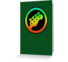Bass  Guitar Colorful sign Greeting Card