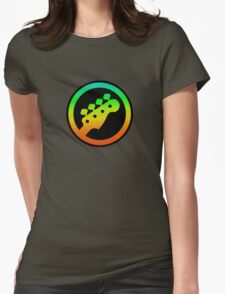 Bass  Guitar Colorful sign Womens Fitted T-Shirt