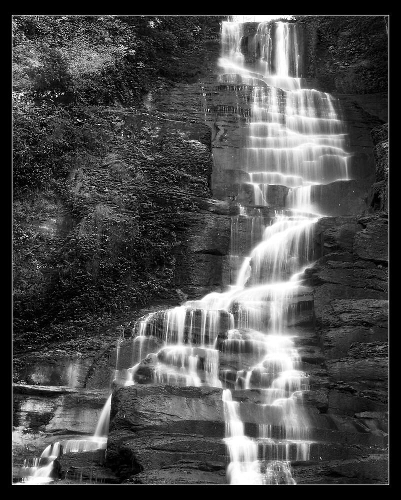 Pratts Falls B&W by NYLongBow