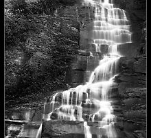 Pratts Falls B&W by NYLongBow