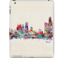 detroit skyline watercolor iPad Case/Skin