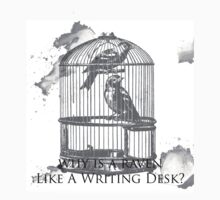 Why Is A Raven Like A Writing Desk? One Piece - Short Sleeve