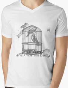 Why Is A Raven Like A Writing Desk? Mens V-Neck T-Shirt