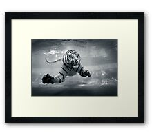 Underwater Danger Framed Print