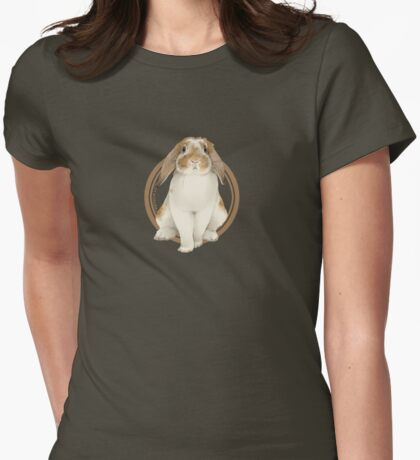 French Lop Rabbit (plain) Womens Fitted T-Shirt