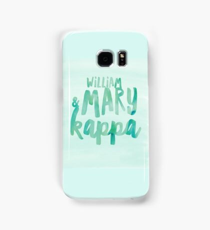 William and Mary Kappa Samsung Galaxy Case/Skin